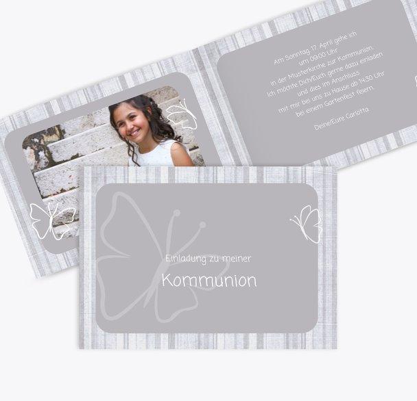 Kommunionskarte Butterfly 2