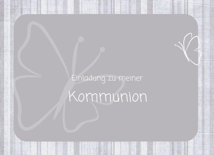 Ansicht 3 - Kommunionskarte Butterfly 2