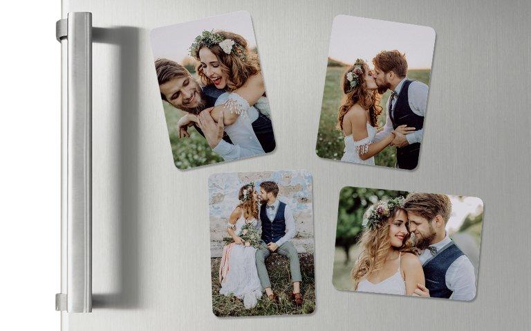 Hochzeits-Magnete mit Bildern