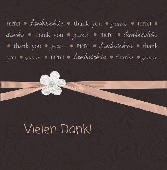 Ansicht 3 - Hochzeit Dankeskarte 2 sanfte Blüte