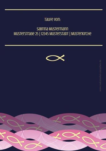 Ansicht 2 - Taufkarte Ichthys