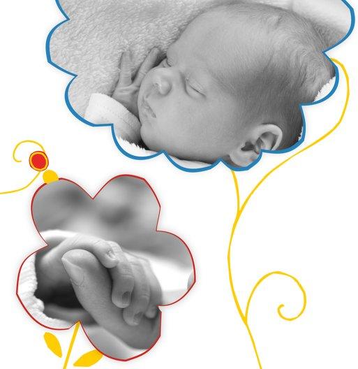Ansicht 6 - Baby Dankeskarte Zauberblumen