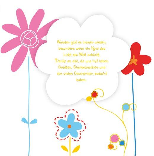Ansicht 7 - Baby Dankeskarte Zauberblumen