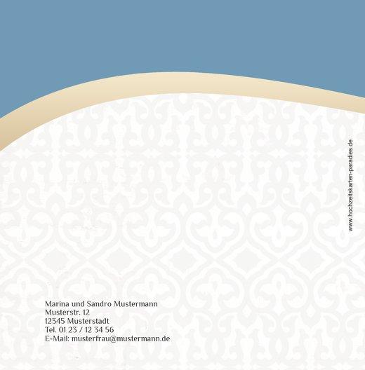 Ansicht 2 - Hochzeit Dankeskarte Unzertrennlich