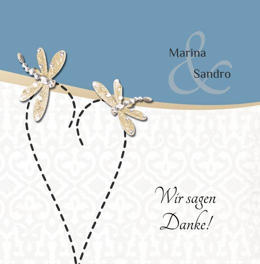 Ansicht 3 - Hochzeit Dankeskarte Unzertrennlich