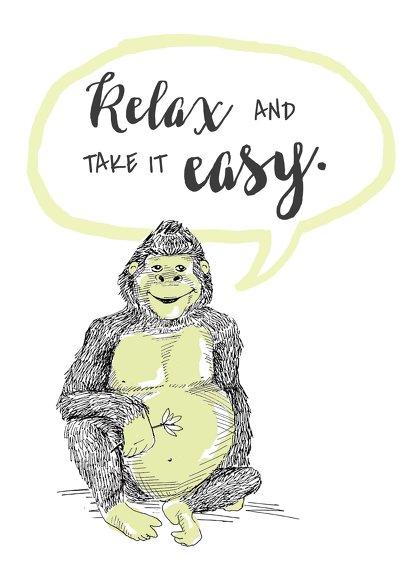 Ansicht 2 - Spruchkarte Happy Gorilla