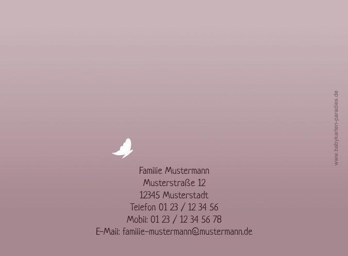 Ansicht 3 - Babykarte Blütenzauber