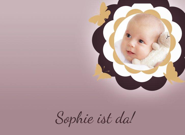 Ansicht 4 - Babykarte Blütenzauber
