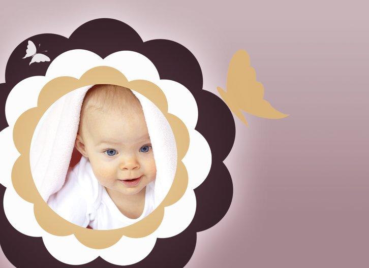 Ansicht 5 - Babykarte Blütenzauber