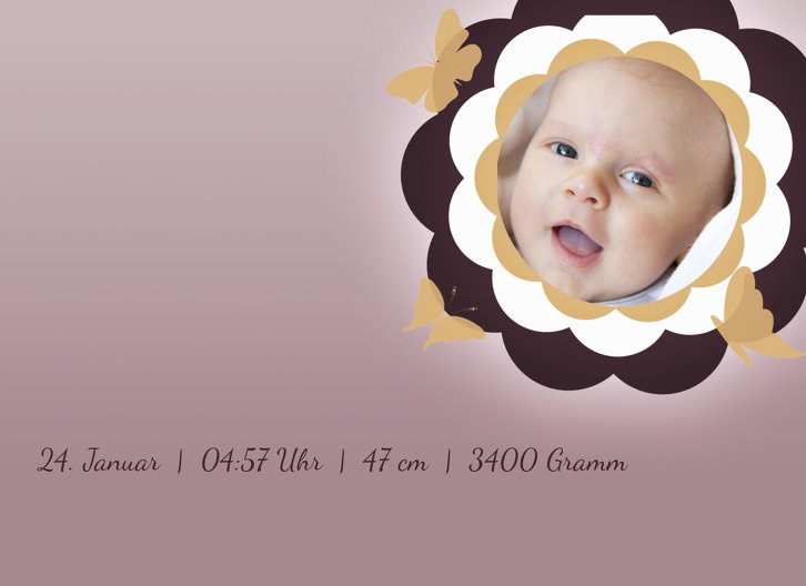 Ansicht 7 - Babykarte Blütenzauber