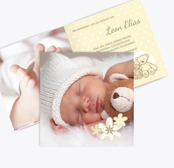 Geburt Dankeskarte Punkte