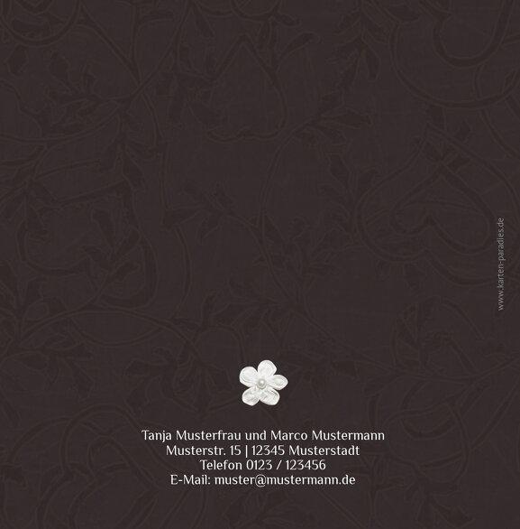 Ansicht 2 - Hochzeit Einladungskarte sanfte Blüte