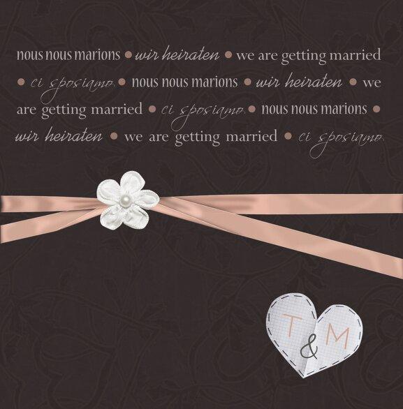 Ansicht 3 - Hochzeit Einladungskarte sanfte Blüte