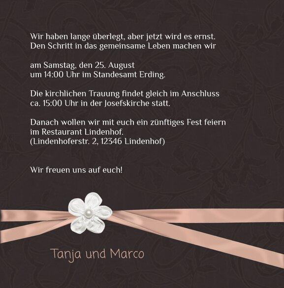 Ansicht 5 - Hochzeit Einladungskarte sanfte Blüte