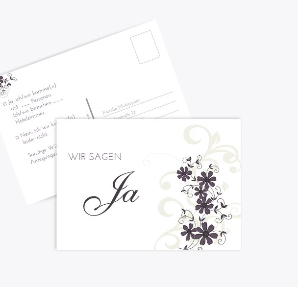 Hochzeit Antwortkarte Ranke