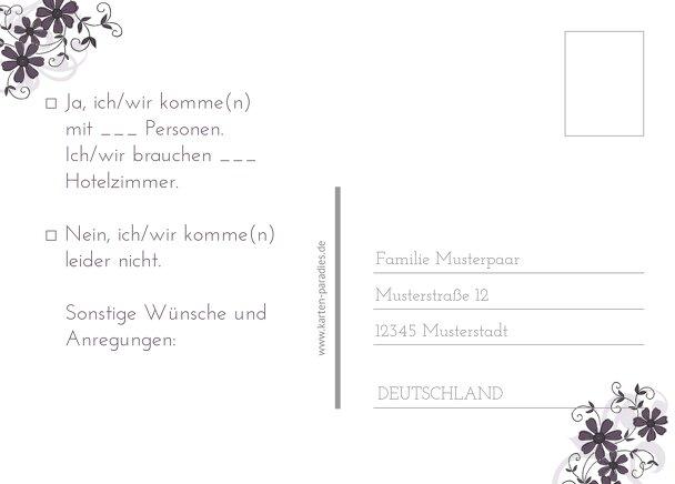 Ansicht 3 - Hochzeit Antwortkarte Ranke