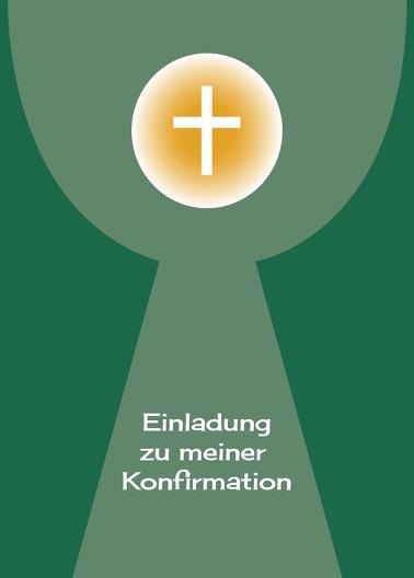 Ansicht 2 - Einladung zur Konfirmation Kelch mit Hostie