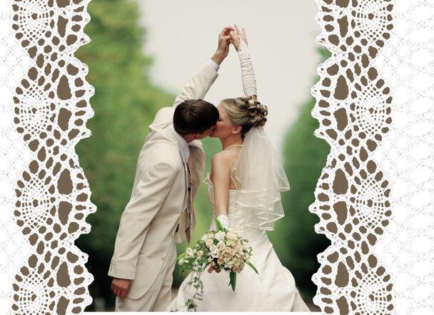 Ansicht 4 - Hochzeit Einladung Vintage Schleife