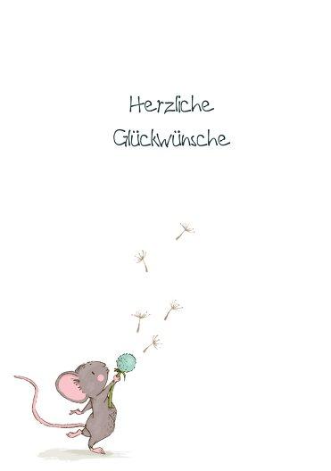 Ansicht 3 - Glückwunschkarte zur Geburt Mäuschen