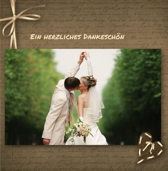 Ansicht 3 - Hochzeit Dankeskarte Herzensgedicht