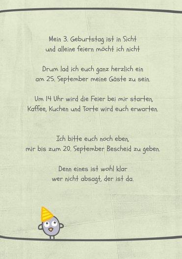 Ansicht 4 - Einladung zum Geburtstag Vogelfest