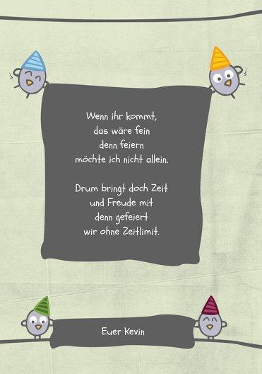 Ansicht 5 - Einladung zum Geburtstag Vogelfest