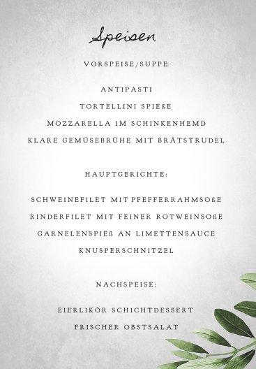 Ansicht 5 - Hochzeit Menükarte Blätterwerk