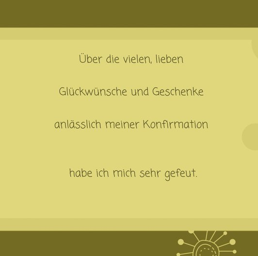 Ansicht 5 - Konfirmation Dankeskarte Blumen