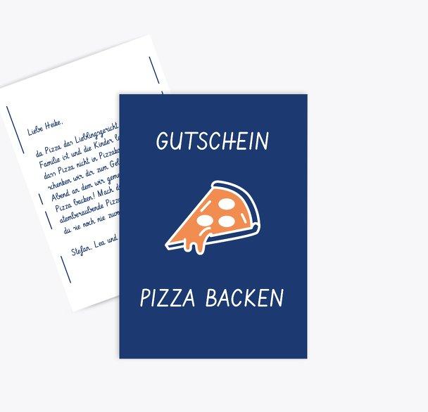 Gutschein zum Geburtstag Pizza backen