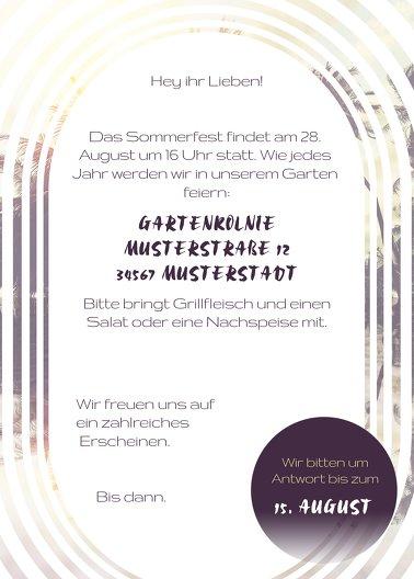 Ansicht 3 - Einladung Sommerfest Sonnenaufgang