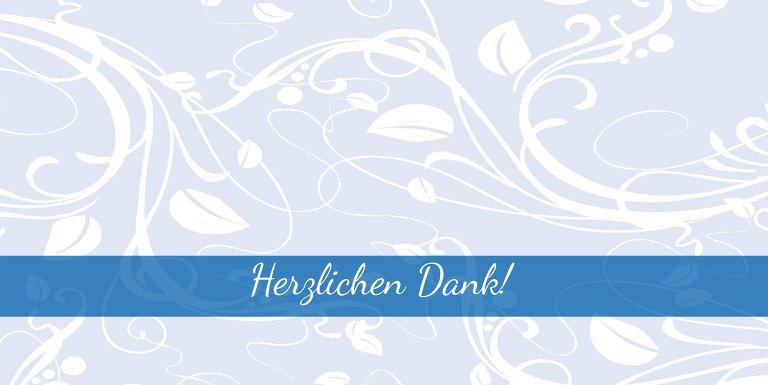 Ansicht 3 - Hochzeit Dankeskarte Blättertraum