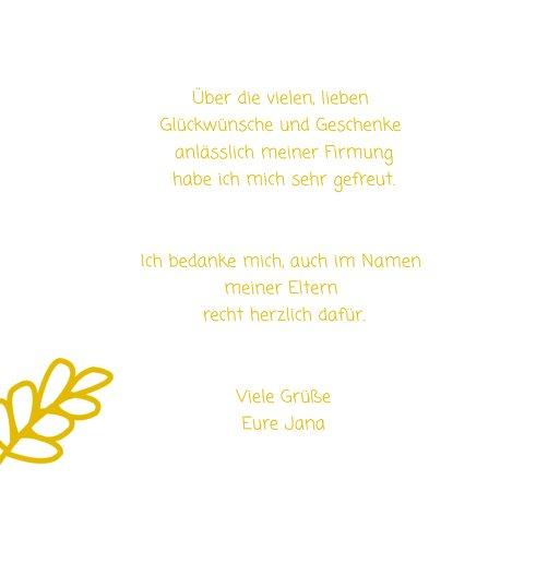 Ansicht 6 - Firmung Dankeskarte Gräser