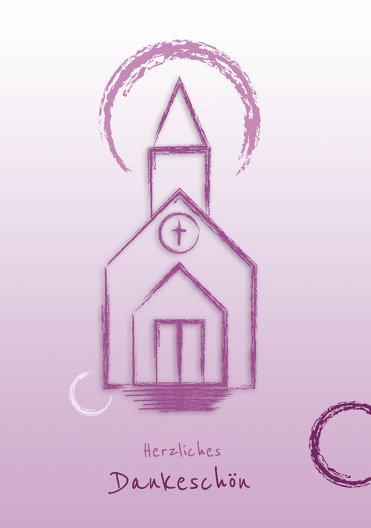Ansicht 3 - Konfirmation Dankeskarte Kirche
