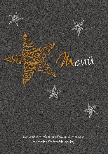 Ansicht 3 - Menükarte curly star