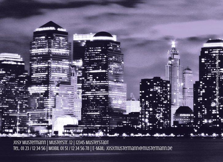 Ansicht 2 - Einladung zum Geburtstag Skyline 50 Foto