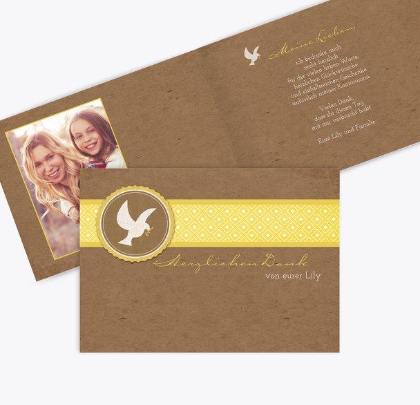 Kommunion Dankeskarte Flügelschlag