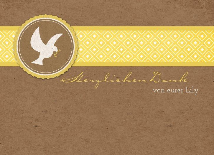 Ansicht 3 - Kommunion Dankeskarte Flügelschlag