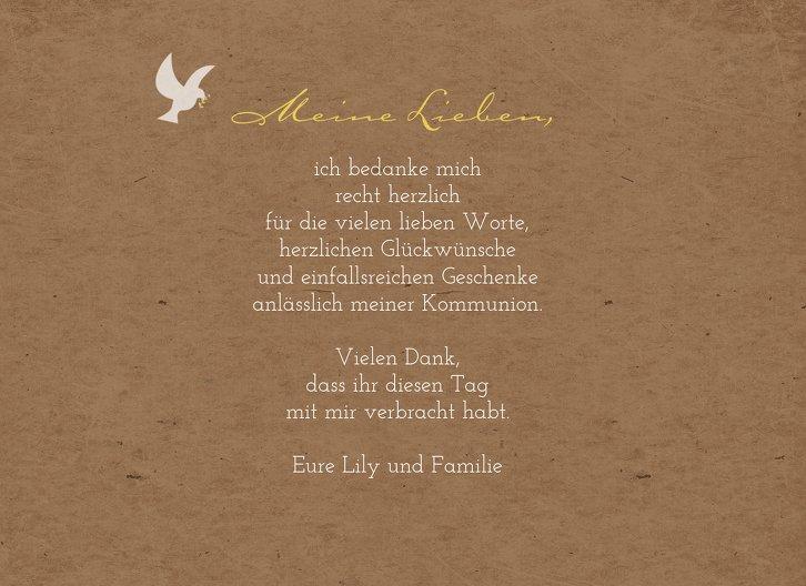 Ansicht 5 - Kommunion Dankeskarte Flügelschlag