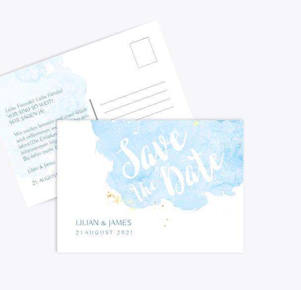 Hochzeit Save-the-Date Wolke Sieben