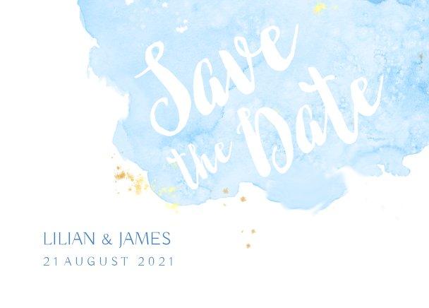 Ansicht 2 - Hochzeit Save-the-Date Wolke Sieben