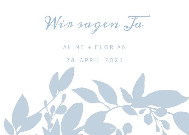 Ansicht 2 - Hochzeit Antwortkarte Blauregen
