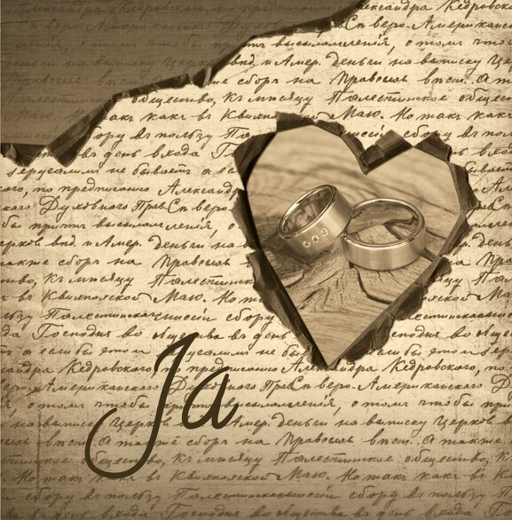 Ansicht 3 - Hochzeit Einladung 2 Herzensgedicht