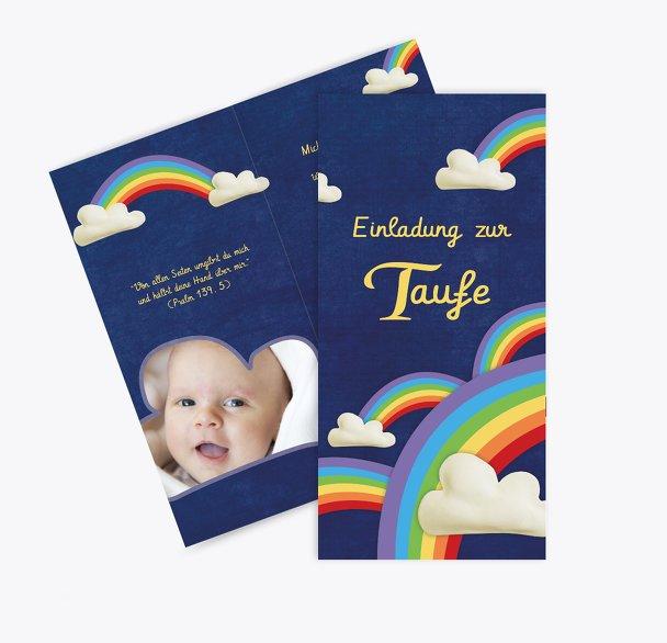 Taufkarte Regenbogenfantasie