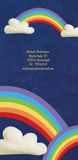 Ansicht 2 - Taufkarte Regenbogenfantasie