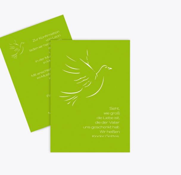 Konfirmation Einladung Pigeon
