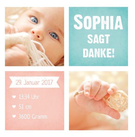 Ansicht 3 - Baby Dankeskarte Stolz