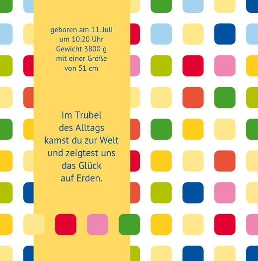 Ansicht 4 - Babykarte Viereck