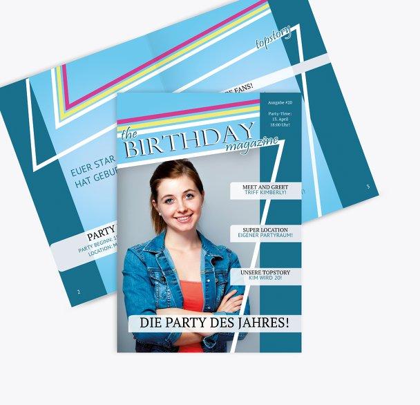 Geburtstagskarte Birthday Magazine Foto