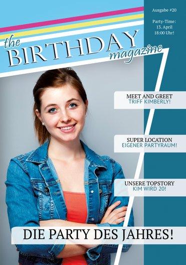Ansicht 3 - Geburtstagskarte Birthday Magazine Foto