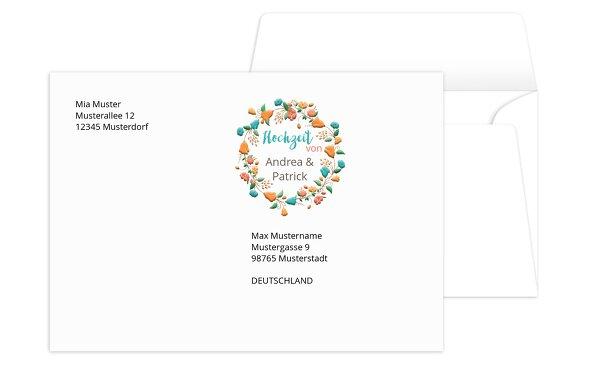 Umschlag Blütenkranz